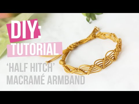 Sieraden maken: 'Half hitch' macramé armband ♡ DIY