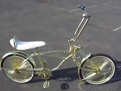 gold twist frame lowrider bike youtube