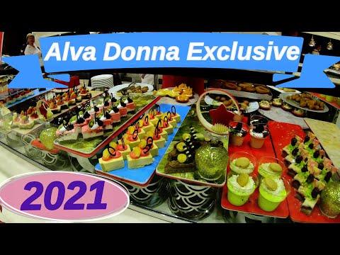 Alva Donna Exclusive Hotel \u0026 Spa 5*, Белек, Турция 2021. Праздничный ужин в отеле. Видео 4 К