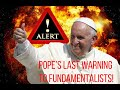 Breaking News: If Pope Francis was Honest (Parody)