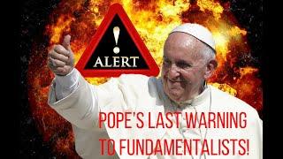 Breaking News: Pope Francis' Last Warning (Parody)