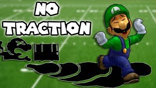 What if Luigi Had No Traction? (Modded TAS)