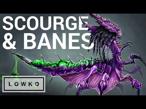 """StarCraft 2: MASS SCOURGE & BANELINGS! (""""Bad Weather"""" on Brutal)"""