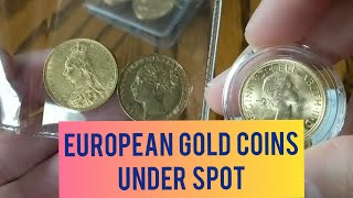 I Buy European Gold Coins, Gold Soverigns & Francs under gold spot price. BU Gold Coin Unboxing