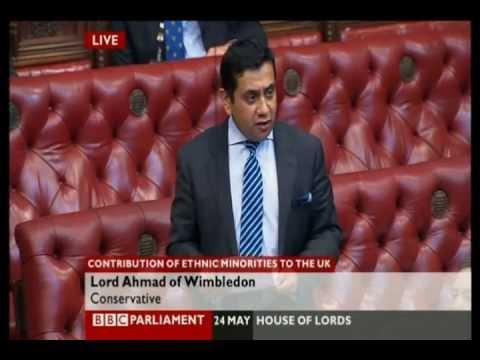Lord Tariq Ahmad in the House of Lords on Ahmadiyya Muslims UK: 24 May 2012