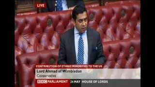 Lord Tariq Ahmad in the House of Lords on Ahmadiyya Muslims UK: 24 May 2012