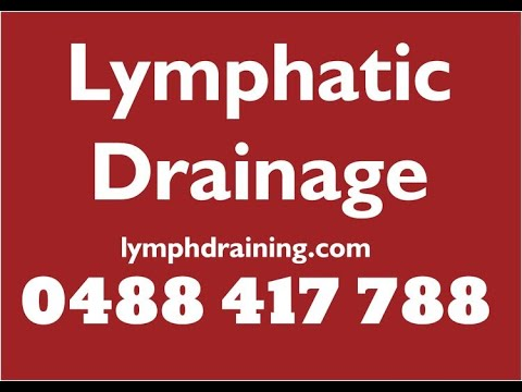 lymphatic drainage massage - lymphatic drainage massage tutorial.  For Cellulite: Lymphatic Drainage