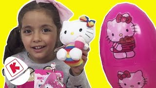 Hello Kitty Real Surprise Eggs Toys Opening - Princesses In Real Life | WildBrain Kiddyzuzuaa