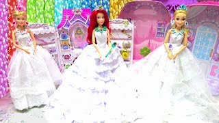 Wedding Makeup Jewelry Room Disney Princess Barbie Rapunzel Ariel Wedding Dress Up