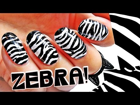 Kako da? ZEBRA NOKTI (freehand nail art) | bydanijela.com