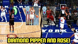 DIAMOND SCOTTIE PIPPEN & DERRICK ROSE! ICE COLD SET! NBA 2K18 MYTEAM GAMEPLAY