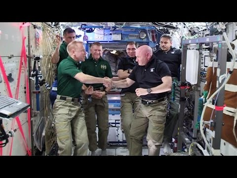 Scott Kelly Hands Over Station Command to Tim Kopra