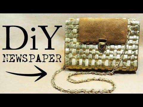 NEWSPAPER BAG DIY