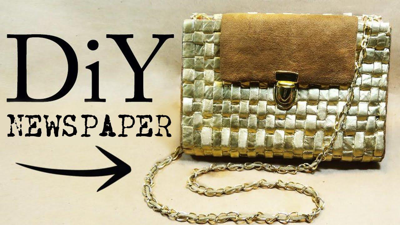 NEWSPAPER BAG DIY - YouTube
