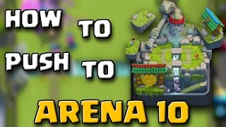 HOW TO PUSH TO LEGENDARY ARENA!! Best Jungle Arena 9 Deck In Clash Royale