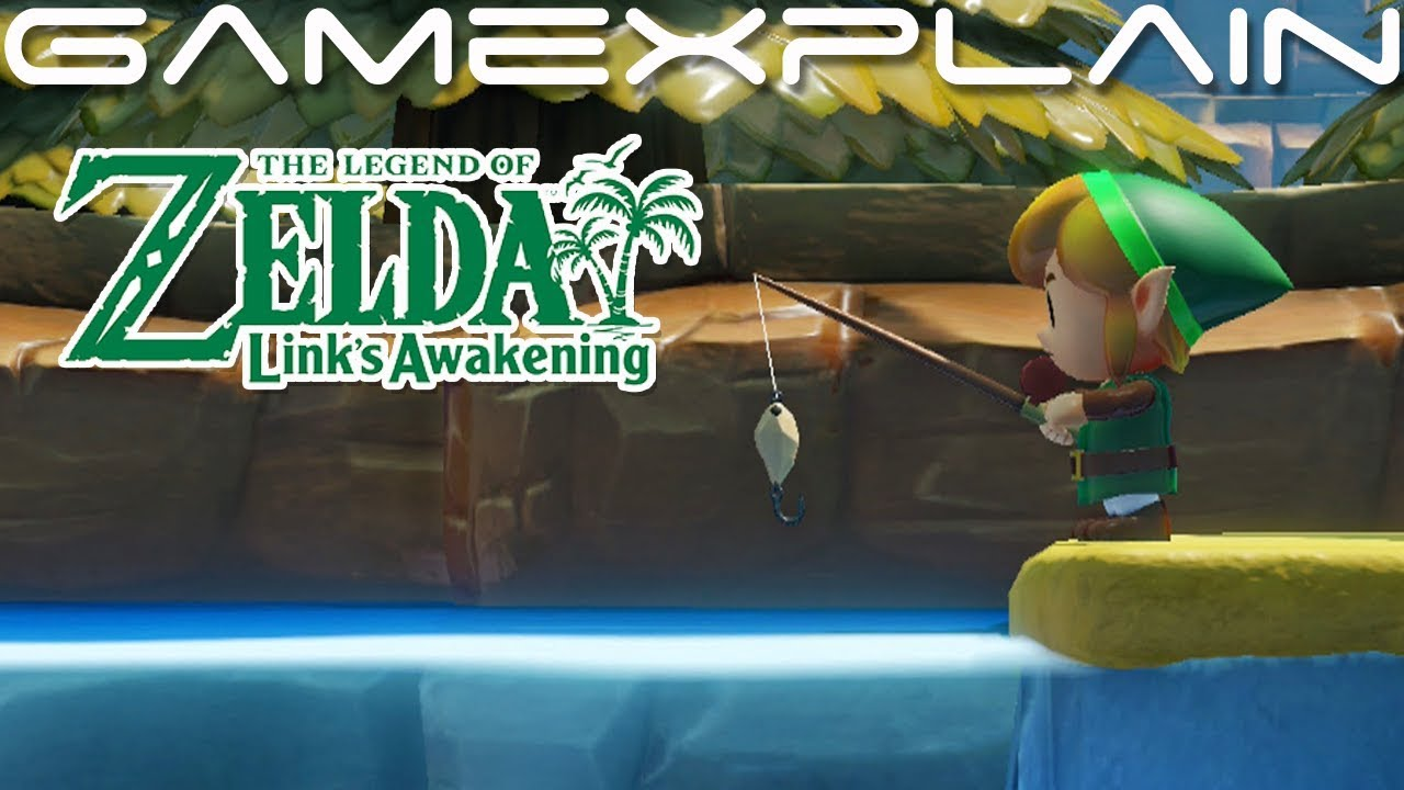 Fishing For The Fairy Bottle In Zelda Link S Awakening Switch Direct Feed