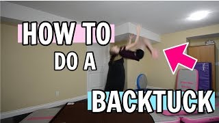 How To Do A Backtuck/Backflip   Bethany G
