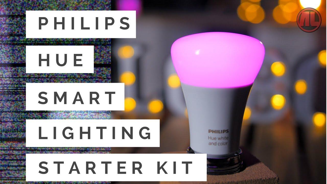 Philips Hue Smart Lighting Starter Kit Unboxing, Review & Setup