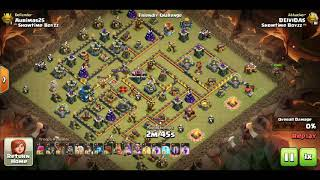 Clash of clans/atack strategy town hall 12+ new bat spell
