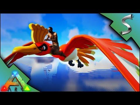 HO-OH LEGENDARY BIRD! CHARMANDER VS BULBASAUR VS SQUIRTLE! - POKEMON IN ARK! - Ark: Survival Evolved