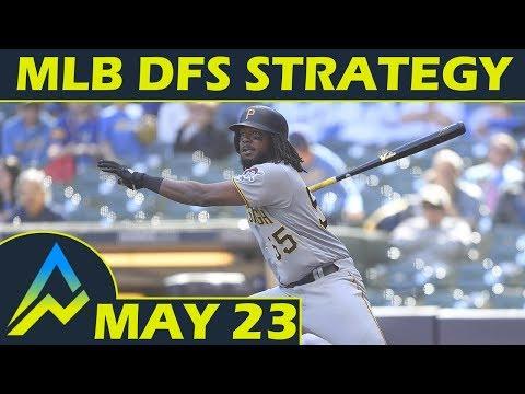 MLB DFS Strategy   Wednesday 5/23   FanDuel & DraftKings   Awesemo.com