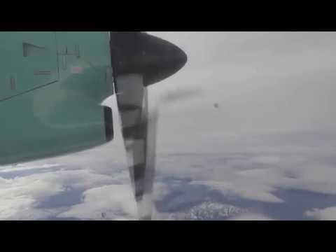 Widerøe  WF910, Dash 8-100 Tromsø - Hammerfest - (HFT) Take off & Landing [HD]
