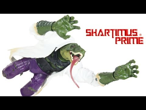 Marvel Legends Lizard BAF Build A Figure 2018 Spider-Man Wave Hasbro Comic Action Figure Toy Review