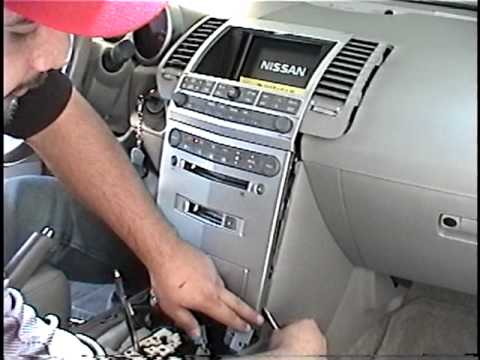 How To Remove Radio Cd Changer Navigation From 2005 Nissan Maxima For Repair