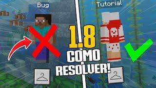 COMO CORRIGIR O BUG DA SKIN NA VERSÃO DO MINECRAFT PE 1.8.0.13 ! (Minecraft Pocket Edition)