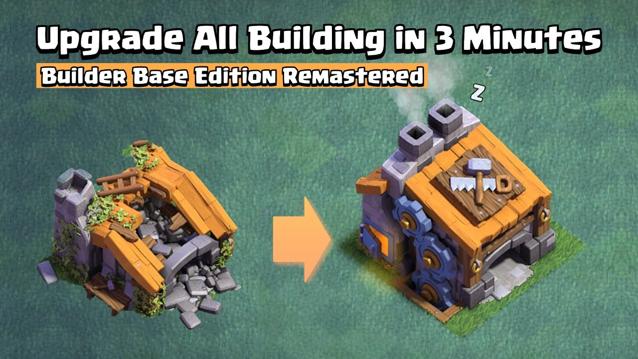 Upgrade All Builder Base Building in 3 Minutes   Clash of Clans