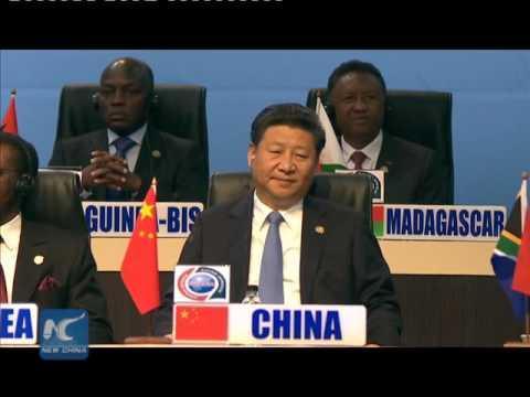 Robert Mugabe expresses gratitude to China at China-Africa summit