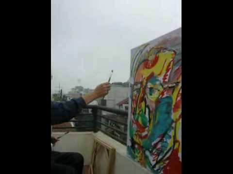 Hanoi Artist painting
