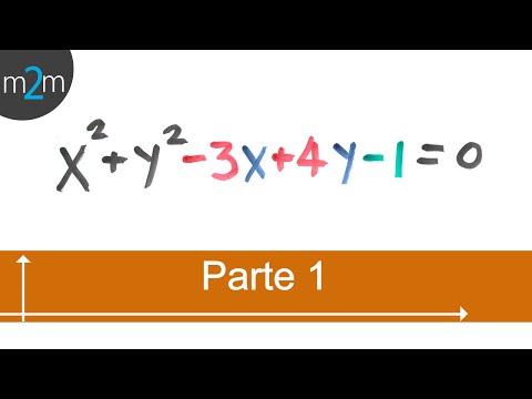 * Obtener centro y radio de una ecuación general de circunferencia - Parte 1