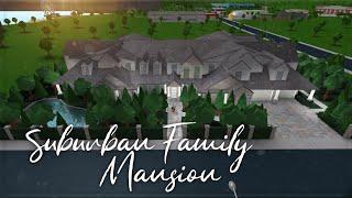 Roblox - France Bienvenue à Bloxburg: Suburban Family Mansion (fr) Speedbuild (Speedbuild)