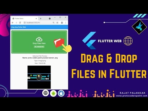 flutter web drag and drop - dropzone in flutter
