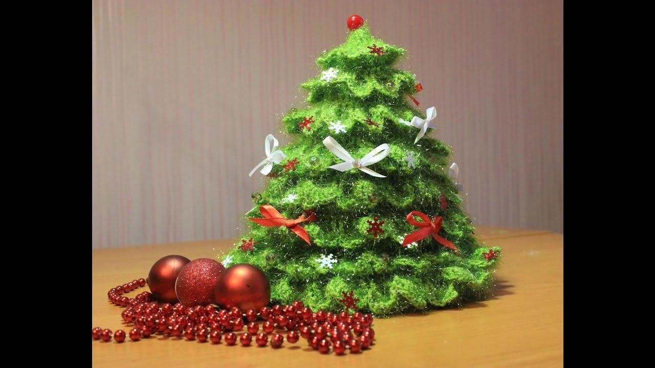 как связать елочку крючком обзор How To Knit Crochet Christmas Tree