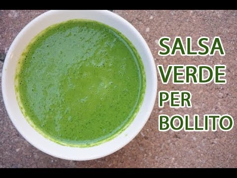 SALSA VERDE PER BOLLITO in 5 MINUTI | ricetta originale della Confraternita del Bollito