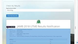 This is a raw video of jamb upgrading . 08092116489.
