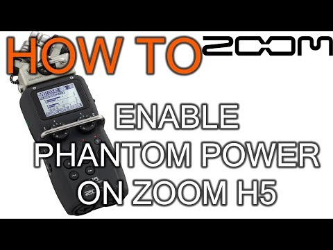 How to Enable Phantom Power on Zoom H5 - YouTube