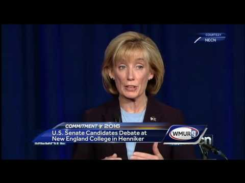 Hassan, Ayotte go head to head in debate at New England College