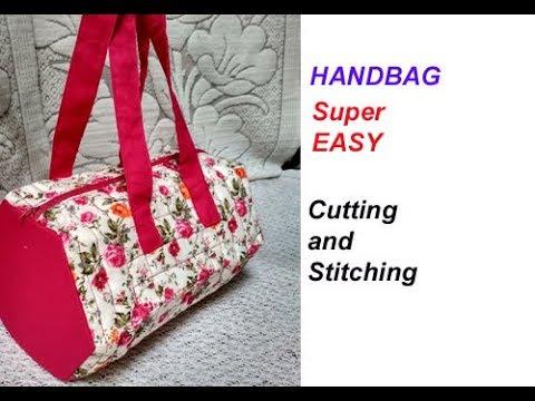 handbag /shopping bag / lunch bag/ cutting and stitching in hindi /make up bag /shoulder bag