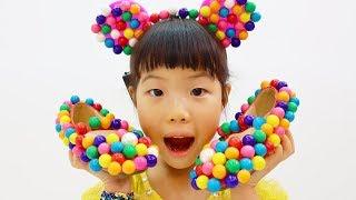 슈퍼히어로 크리스마스 파티에 초대받았어요!! 사탕신발 머리띠 가방 Yuni and Grandpa play sweet shoes,bag,hair band- Romiyu 로미유 스토리
