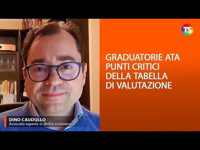 Graduatorie ATA   punti critici della tabella di valutazione
