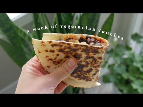 a week of VEGETARIAN meals *7 easy lunch ideas*