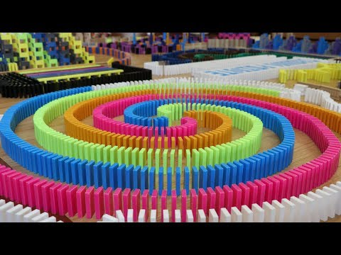 12,000 Dominoes! - Crown Pointe Domino Toppling 6