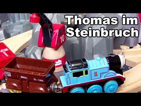 Thomas die kleine Lokomotive im Steinbruch BRIO Holzeisenbahn Spielzeug Kanal für Kinder Kinderkanal