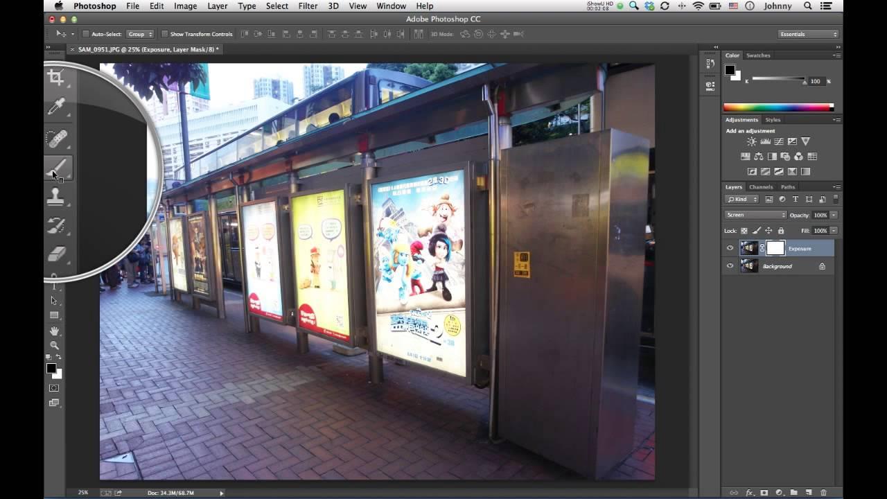 Photoshop 教學 CS6 / CC 矯正曝光不足示範 (廣東話) - YouTube