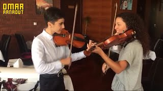 Omar Arnaout & Ana From Argentina  - Playing With Violin