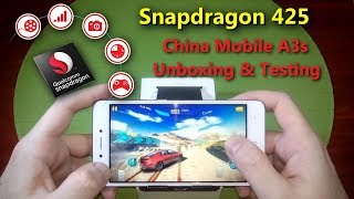 Powerful Smartphone under $63. China Mobile CMCC A3s Unboxing and Performance/Gameplay/Camera Test