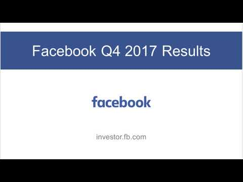 Facebook Earnings Call Q4 2017 | Virtual Reality, Future Of Facebook and More